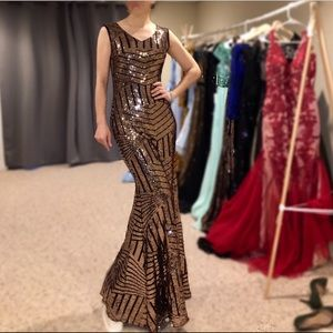 94909eed7c5 Dresses   Skirts - Women Cap Sleeve Sequin Gatsby Long Evening Dress